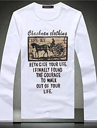 Men's Fashion Round Neck Cotton T-shirt