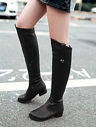 Women's Shoes Round Toe Chunky Heel Knee-high Boots