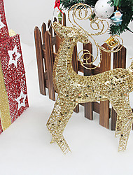 adornos de navidad alces, color al azar de hierro