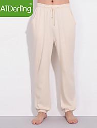Aidarling Men's Organic Cotton Pants Pajama Pants Pants Pants Household (Have XXXL Code)