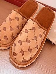 Les chaussures pour hommes à bout rond pantoufles talon plat de coton chaussures plus de couleurs disponibles