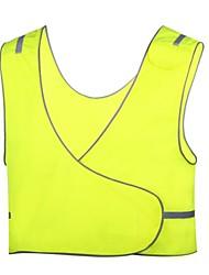 dos homens de segurança fluorescente ciclismo reflexivo colete