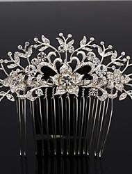 9 centimetri di promenade delle donne della lega e strass nozze lascia i capelli fiore pettine
