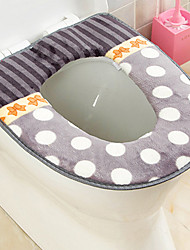 3 Pieces Stripes and dots Pattern Antibiotic Super Soft Toilet Seat Cushion