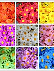 50pcs 4cm 10Colors Artificial Silk Sun Flower Daisy Head Wedding Birthday Party Favors Decorations Table Centrepieces