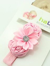8PCS baby Rolled Fabric Rosette Flower and Satin Ribbon Flower Baby Headband for baby girl hair accessories