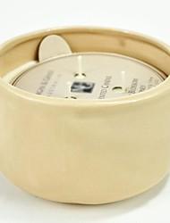aromall® soja Bougie parfumée 450g fleur de pêcher&lumière jaune miel céramique 45hrs porte-gobelet temps de combustion