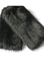 Fashion Keep Warm Fur Foot Strap Black