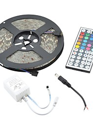 wasserdicht 72w rgb flexible Streifen Licht 4300LM 300-5050 SMD LED w / 44-Tasten-Steuerung (5m / DC 12V)