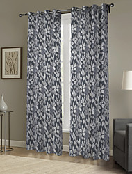 Country Minimalist Leaves Curtain (Two Panels)