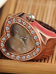 Women's Heart Shaped Gold Alloy Quartz Ring Watch Cool Watches Unique Watches