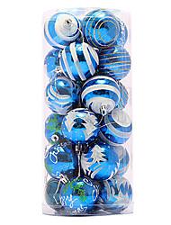 2.4inch conjunto de 24 adornos de navidad bola colorida, pvc