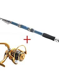 3.0m углерода синий рыбалка среднего света удочка&комбо катушка рыболовная катушка af5000 спиннинг рыболовных катушек