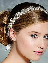 Women's Rhinestone Silk Headpiece-Wedding Headbands