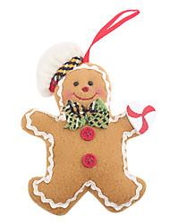 hombre de pan de jengibre de Navidad colgar acto regalos