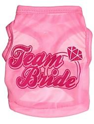 T-shirt voor honden / katten Roze Lente/Herfst XS / S / M / L Textiel Binnenwerk