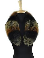autentico collo di pelliccia di volpe scialle dell'involucro della sciarpa multicolore delle donne