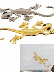 voiture / moto sticker décoratif bricolage en alliage de zinc de style gecko - (x2)