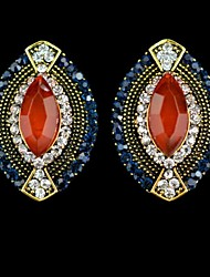 Women's Vintage Oval Gemstone Stud Earrings(More Colors)