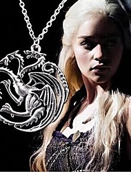 retro mannen Game of Thrones Targaryen draak ketting