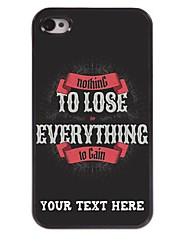 personalizzato del telefono caso - di tutto per vincere cassa del metallo di progettazione per il iphone 4 / 4s