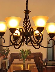 Pastoral style Luxury Modern Living Room 6 Lights