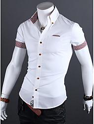 Informeel MEN - Vrijetijds shirts ( Katoen )met Lange Mouw