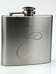Personalized Stainless Steel 5-oz  Hip Flask- Initials