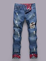 Men's Print Pant , Cotton/Denim Casual