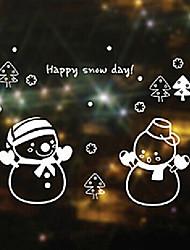 """joyeux noël petite fenêtre de bonhomme de neige de Noël autocollant - 21,7 """"w × 35,4"""" l"""