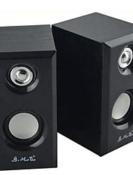 mini-mignon bois audio de 3,5 mm de haut-parleur filaire pour pc