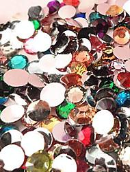 5000PCS Mixs Color Flatback Resin Gems 3mm Handmade DIY Craft Material/Clothing Accessories