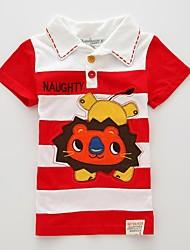 100% katoen zomer dragen borduurwerk t-shirt jongen
