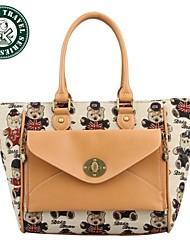 DAKA BEAR® Girl Faux Leather Handbag Tote Shoulder Bags Casual Handbag Tote Bags