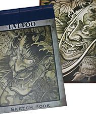 портрет эскиз татуировки картины книга