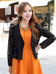 ER Elegant Lace Long Sleeve Short Blazer