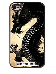 personalizzato del telefono caso - dragon caso di disegno del metallo per il iphone 4 / 4s