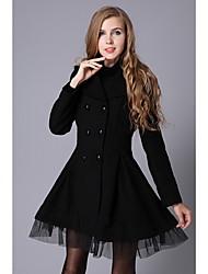 Clement Women's Linen Elegant Double-breasted Coat
