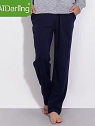 aidarling homens do algodão puro reta calças vasilha calças esportivas tamanho XXXL várias cores