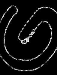 modieuze ring o-vormige verzilvering ketting (1 st)