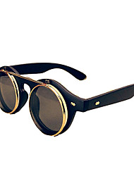 Sunglasses Men / Women / Unisex's Classic / Retro/Vintage / Sports Round Black / Brown / Leopard Sunglasses Full-Rim