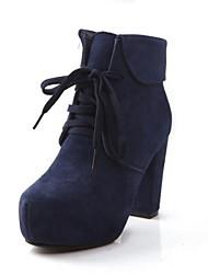 botas de los zapatos de la moda de las mujeres de tacón grueso botines más colores disponibles