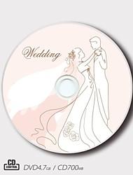 personalizado CD-R / DVD-r amor creador Patrón de boda regalo mágico (juego de 5)
