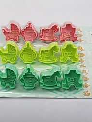 4PC Animal Shaped Three-dimensional Cake Mold Fondant Mold(More Colors)