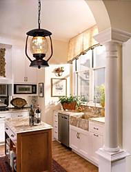 affleurant 1 lumière droplight classique restauration des moyens anciens laiton antique verre métal pulvérisation de laque