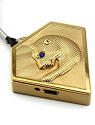 Personalized Engraving Leopard Gold Metal Electronic Lighter