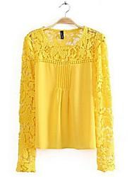 flor camisa do laço chiffon de Coco Zhang mulheres