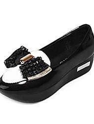 zapatos de las mujeres del dedo del pie en punta mocasines de tacón de cuña zapatos confort más colores disponibles