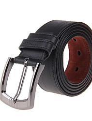Men Fashionable Head Layer Cowhide Leather Zinc Alloy Buckle Belt