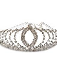 Personalized Cubic Zirconia Hair Hoop Wedding Tiara Headpiece